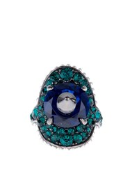 Gucci Stud And Crystal Embellished Ring