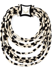 Giorgio Armani Animal Print Tube Necklace Nude And Neutrals