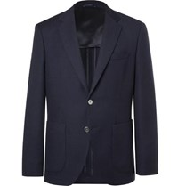 Hugo Boss Navy Janson Waffle Knit Virgin Wool Blazer