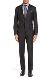 Boss Men's 'Huge Genius' Trim Fit Wool Suit Charcoal