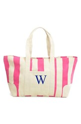 Cathy's Concepts Personalized Stripe Canvas Tote Pink Pink W