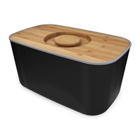Joseph Joseph Steel Bread Bin Black