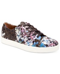 Calvin Klein Women's Imilia Embossed Logo Sneakers Women's Shoes Brown Floral