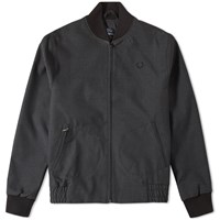Fred Perry Wool Bomber Jacket Grey