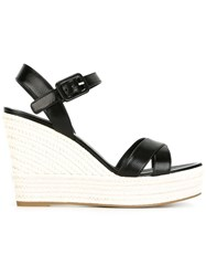 Sergio Rossi Wedge Sandals Black