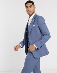 Burton Menswear Slim Suit Jacket In Light Blue