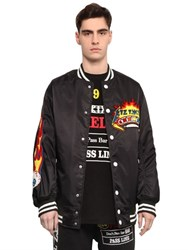 Ktz Pinball Patched Canvas Bomber Jacket