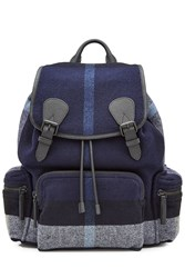 Burberry Shoes And Accessories Wool Backpack Blue