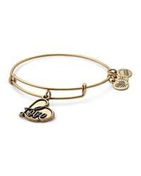 Alex And Ani Love Charm Expandable Wire Bangle Gold