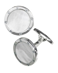 Jan Leslie Round Mother Of Pearl Cuff Links