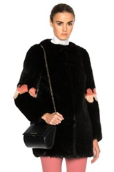 Shrimps Faux Fur Frilly Joseph Coat In Black