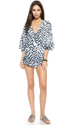 Blue Life Wild And Free Romper Aztec