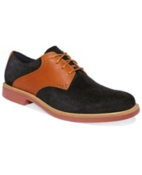 Cole Haan Men's Shoes Great Jones Saddle Oxfords Men's Shoes Black Suede Camello
