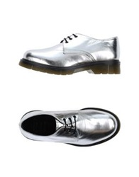 Never Ever Lace Up Shoes Silver