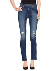 Moschino Denim Denim Trousers Women Blue