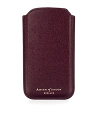 Aspinal Of London Iphone 6 Leather Case Unisex Burgundy