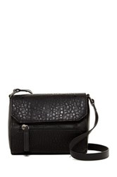 French Connection Bridget Faux Leather Crossbody Black