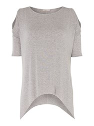 Label Lab Ina Cold Shoulder Top Blush
