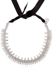 Ellen Conde Brilliant Jewelry Spike Crystal Necklace