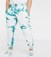 Reebok Classics Tie Dye Joggers In Blue And White Exclusive To Asos