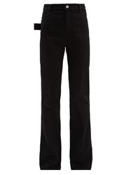 Bottega Veneta High Rise Flared Jeans Black