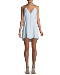 Dl Minetta Button Front Slip Tank Dress Light Blue