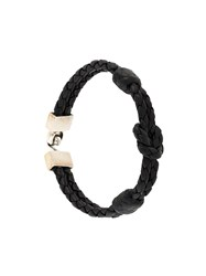 King Baby Studio Hook Clasp Square Knotted Bracelet Black