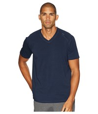 Tasc Performance Carrollton V Neck Tee Classic Navy T Shirt