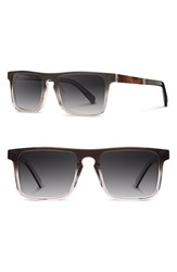 Men's Shwood 'Govy 2' 52Mm Polarized Sunglasses Fog Elm Grey
