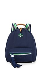 Tory Burch Preppy Canvas Backpack Royal Navy