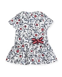 Petit Bateau Short Sleeve Cotton Floral Dress Multi