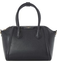 Dune Dinessy Faux Leather Winged Top Handle Bag Black Plain Synthetic