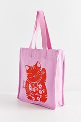 Urban Outfitters Lucky Cat Tote Bag Pink