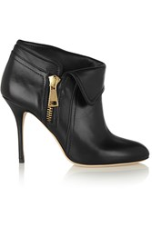 Alberto Moretti Leather Ankle Boots Black