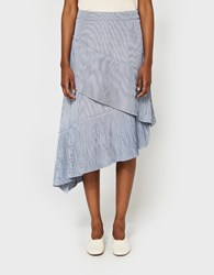 Farrow Accordion Pleat Skirt Blue