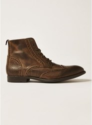 Topman Brown Tan Leather Moriarty Lace Boots