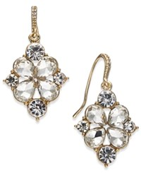 Charter Club Gold Tone Crystal Drop Earrings Created For Macy's