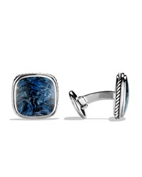Exotic Stone Cuff Links With Pietersite David Yurman Silver