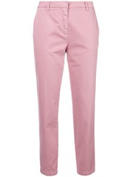 Department 5 Cropped Trousers Pink And Purple