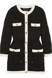 Moschino Quilted Crepe Coat Black