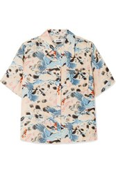 Re Done Printed Voile Shirt Blue