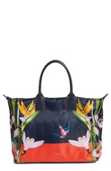 Ted Baker London Tropical Oasis Large Tote Blue Navy