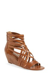 Women's Hinge 'Neta' Leather Wedge Sandal Cognac Leather