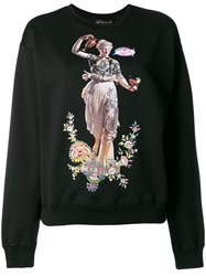 Etro Embroidered Graphic Sweatshirt Black