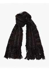 Maison Martin Margiela 10 Black Ribbed Tinsel Scarf