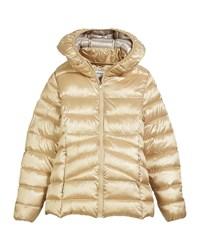 Mayoral Faux Fur Hooded Jacket Size 8 16 Champagne