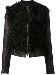 Lost And Found Shearling Jacket Black
