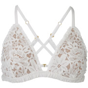 For Love And Lemons Women's Sage Lace Bra Ivory White