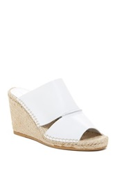 Charles David Owen Espadrille Wedge Sandal White