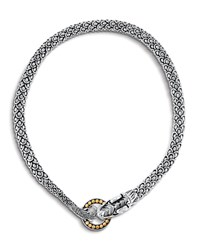 John Hardy Legends Naga Dragon Silver Necklace W 18K Gold 20 Gold And Silver